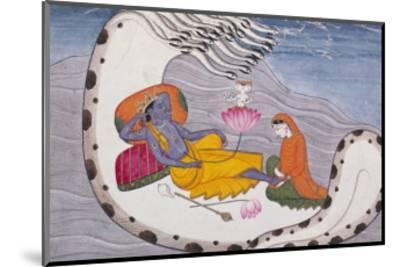 Vishnu and Lakshmi on the Serpent of Eternity--Mounted Giclee Print