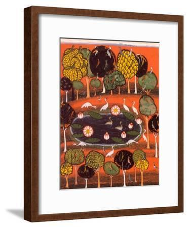 Radha and the Cat, India--Framed Giclee Print