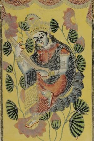 Saraswati, Calcutta, c.1870--Stretched Canvas Print