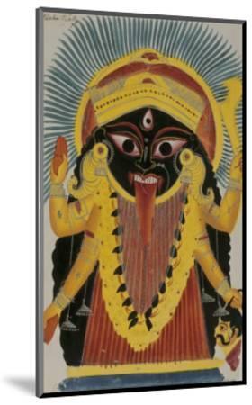 The Goddess Kali. Kalighat Style. Calcutta, India, 1845--Mounted Giclee Print