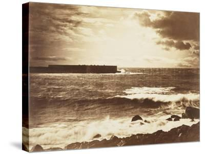 The Great Wave-Gustave Le Gray-Stretched Canvas Print