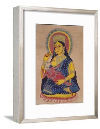 Parvati Nursing Ganesha, India--Framed Giclee Print