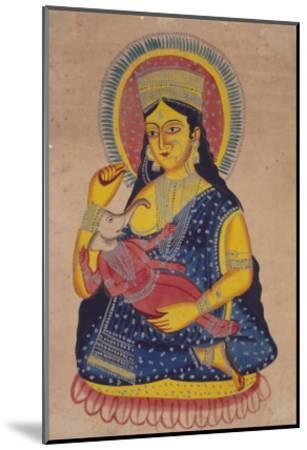 Parvati Nursing Ganesha, India--Mounted Giclee Print