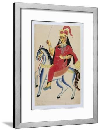 The Rani of Jhansi on Horseback, c.1890--Framed Giclee Print