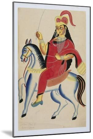 The Rani of Jhansi on Horseback, c.1890--Mounted Giclee Print
