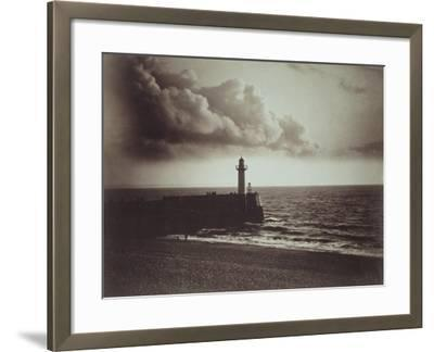Lighthouse and Jetty, Le Havre-Gustave Le Gray-Framed Giclee Print