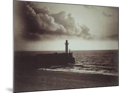 Lighthouse and Jetty, Le Havre-Gustave Le Gray-Mounted Giclee Print