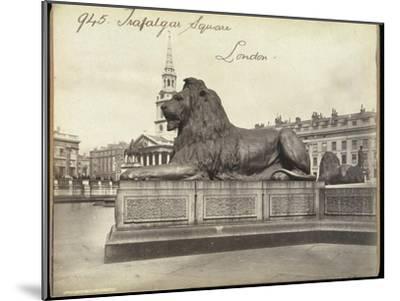 Stone Lion, Trafalgar Square, London, 19th Century-Francis Frith-Mounted Giclee Print
