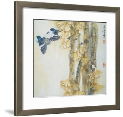 Energetic Rhythm of Autumn-Yuan Mu-Framed Giclee Print