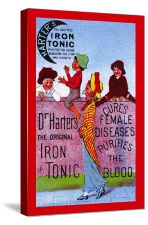 Dr. Harter's Iron Tonic--Stretched Canvas Print