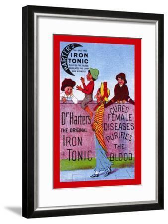 Dr. Harter's Iron Tonic--Framed Art Print