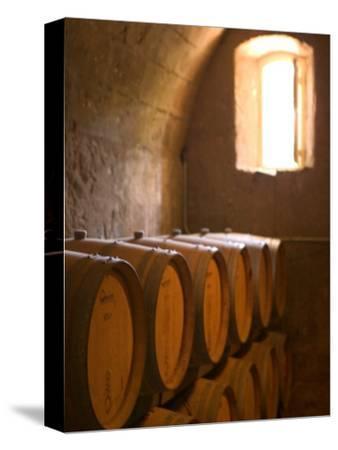 Niebaum-Coppola Estate Winery Wine Cellar, Rutherford, Napa Valley, California-Walter Bibikow-Stretched Canvas Print
