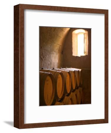 Niebaum-Coppola Estate Winery Wine Cellar, Rutherford, Napa Valley, California-Walter Bibikow-Framed Photographic Print
