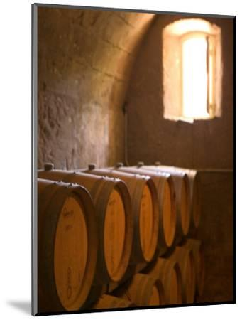 Niebaum-Coppola Estate Winery Wine Cellar, Rutherford, Napa Valley, California-Walter Bibikow-Mounted Photographic Print