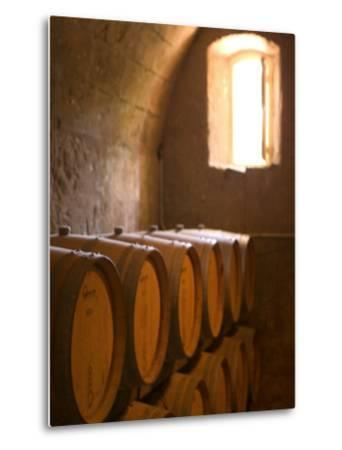 Niebaum-Coppola Estate Winery Wine Cellar, Rutherford, Napa Valley, California-Walter Bibikow-Metal Print