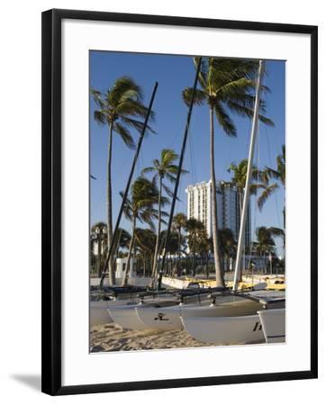 Fort Lauderdale Beach, Fort Lauderdale, Florida-Walter Bibikow-Framed Photographic Print