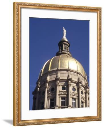Gold Dome of the Capital Building, Savannah, Georgia-Bill Bachmann-Framed Photographic Print