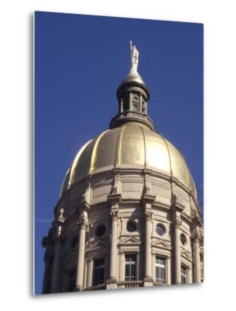 Gold Dome of the Capital Building, Savannah, Georgia-Bill Bachmann-Metal Print