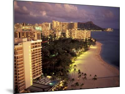 City Skyline and Beach, Honolulu, Oahu, Hawaii-Randa Bishop-Mounted Photographic Print