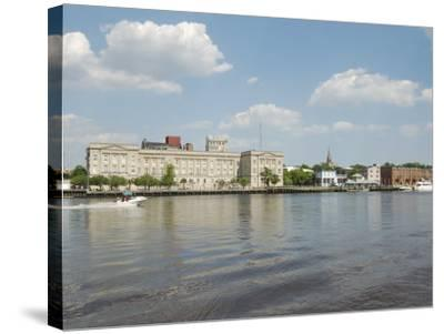 Riverfront Skyline, Wilmington, North Carolina-Lynn Seldon-Stretched Canvas Print