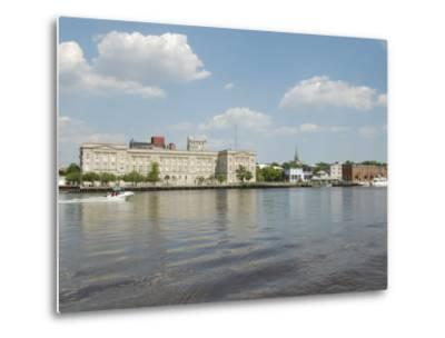 Riverfront Skyline, Wilmington, North Carolina-Lynn Seldon-Metal Print