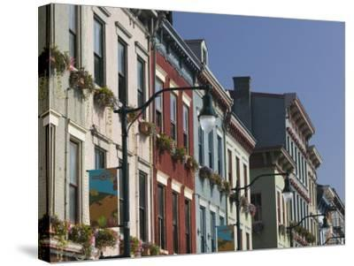 Renovated Buildings by Findlay Market, Cincinnati, Ohio-Walter Bibikow-Stretched Canvas Print