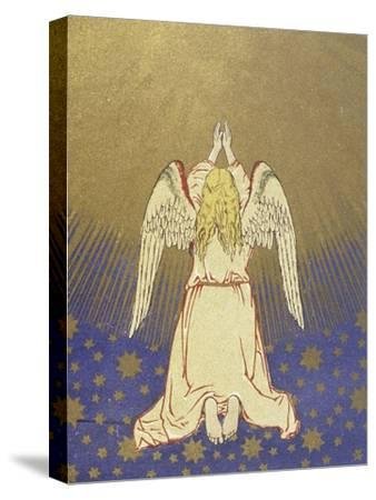 Angel with Arms Raised to Heaven--Stretched Canvas Print