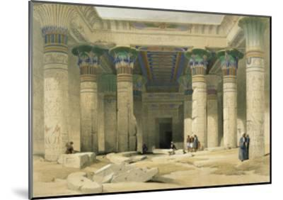 Grand Portico of the Temple of Philae, Nubia-David Roberts-Mounted Giclee Print