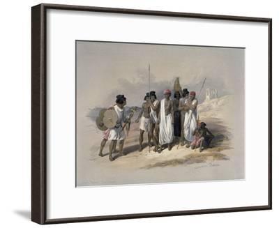 Group of Nubians at Wady Kardassy-David Roberts-Framed Giclee Print