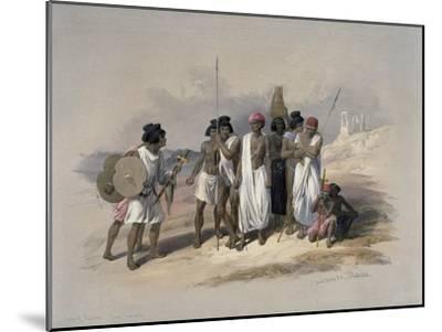 Group of Nubians at Wady Kardassy-David Roberts-Mounted Giclee Print