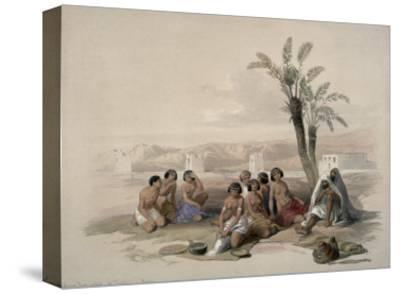 Abyssinian Slaves at Korti, Nubia-David Roberts-Stretched Canvas Print