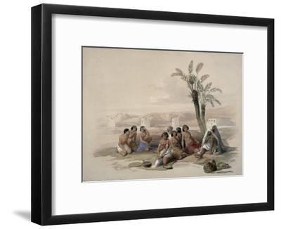 Abyssinian Slaves at Korti, Nubia-David Roberts-Framed Giclee Print