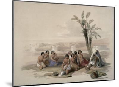 Abyssinian Slaves at Korti, Nubia-David Roberts-Mounted Giclee Print