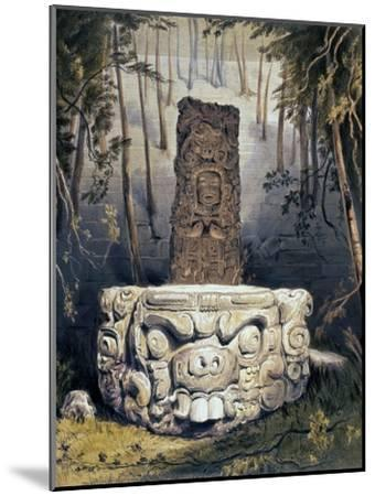 Idol and Altar at Copan-Frederick Catherwood-Mounted Giclee Print