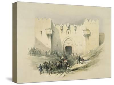 Damascus Gate, Jerusalem-David Roberts-Stretched Canvas Print