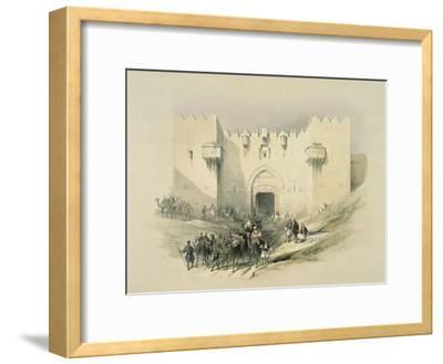 Damascus Gate, Jerusalem-David Roberts-Framed Giclee Print
