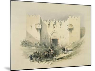 Damascus Gate, Jerusalem-David Roberts-Mounted Giclee Print