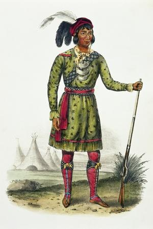 Seminole Leader, History of the Indian Tribes of N. America Osceola-Thomas Loraine Mckenney-Stretched Canvas Print