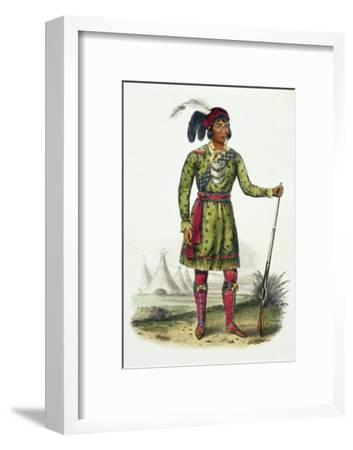 Seminole Leader, History of the Indian Tribes of N. America Osceola-Thomas Loraine Mckenney-Framed Giclee Print