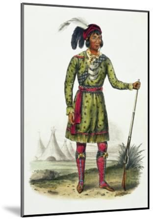 Seminole Leader, History of the Indian Tribes of N. America Osceola-Thomas Loraine Mckenney-Mounted Giclee Print