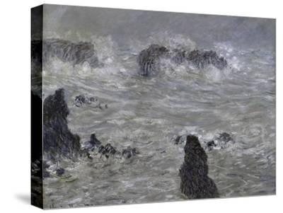 Tempete, Cotes de Belle, Ilestorm-Claude Monet-Stretched Canvas Print