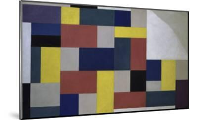 Composition, c.1920-Theo Van Doesburg-Mounted Giclee Print