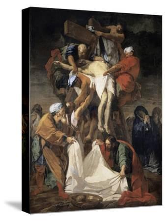 The Descent from the Cross-Jean-Baptiste Jouvenet-Stretched Canvas Print