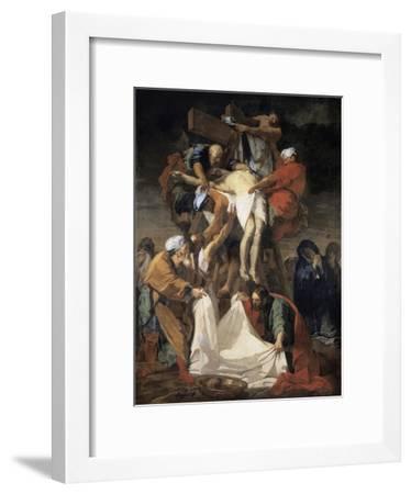 The Descent from the Cross-Jean-Baptiste Jouvenet-Framed Giclee Print