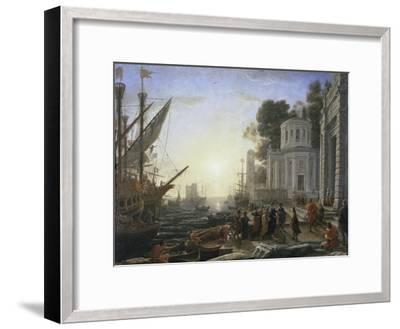 Arrival of Cleopatra-Claude Lorraine-Framed Giclee Print