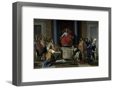 Judgement of Solomon-Nicolas Poussin-Framed Giclee Print