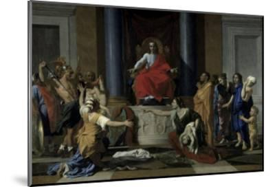 Judgement of Solomon-Nicolas Poussin-Mounted Giclee Print