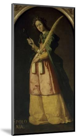 Saint Apollonia, 17th century-Francisco de Zurbar?n-Mounted Giclee Print