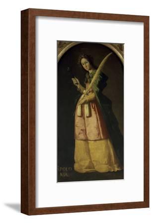 Saint Apollonia, 17th century-Francisco de Zurbar?n-Framed Giclee Print