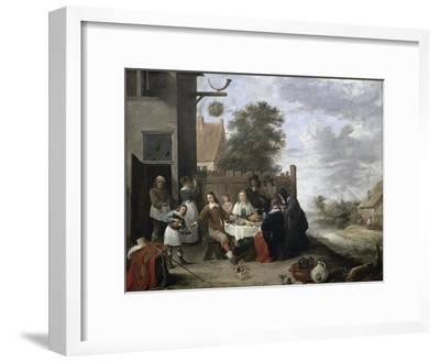 Family Meal-Jan Havicksz^ Steen-Framed Giclee Print